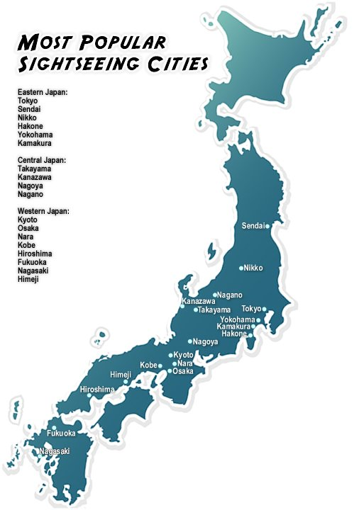 Traveling In Japan - Japan map travel guide