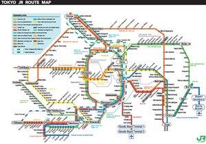 Tokyo Jr Map Maps of Tokyo